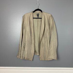 Eileen Fisher Linen & Silk Blazer Size 1X